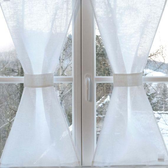 Leinen Scheibengardine Sanduhr für Tür & Fenster nach Mass