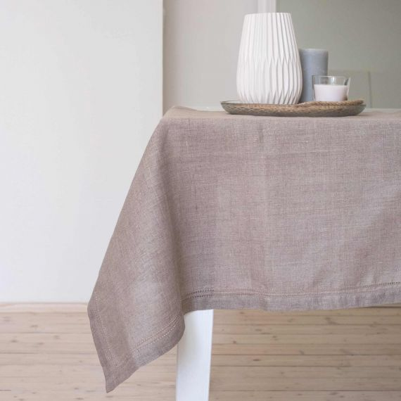 Linen Tablecloth Hemstitch Elbla Natural