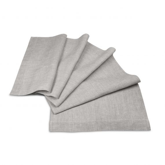 Linen Table Runner Lesna Grey