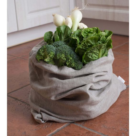 Linen bag for vegetables & fruits Lesna Natural