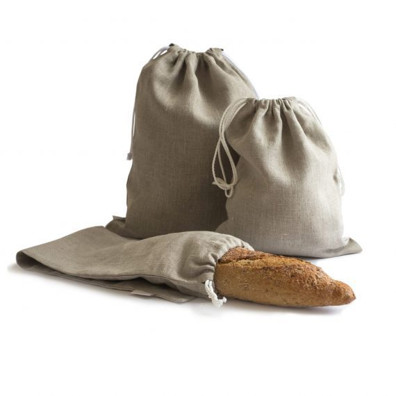 3-er Pack Leinen Brotbeutel & Leinensack für Brot
