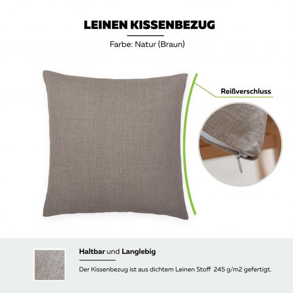 Linen Pillowcase Lesna Natural