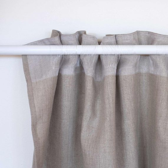 Linen Curtain Lesna Natural
