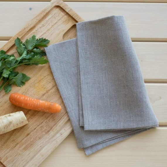Set of 2 linen tea towels Lesna Natural