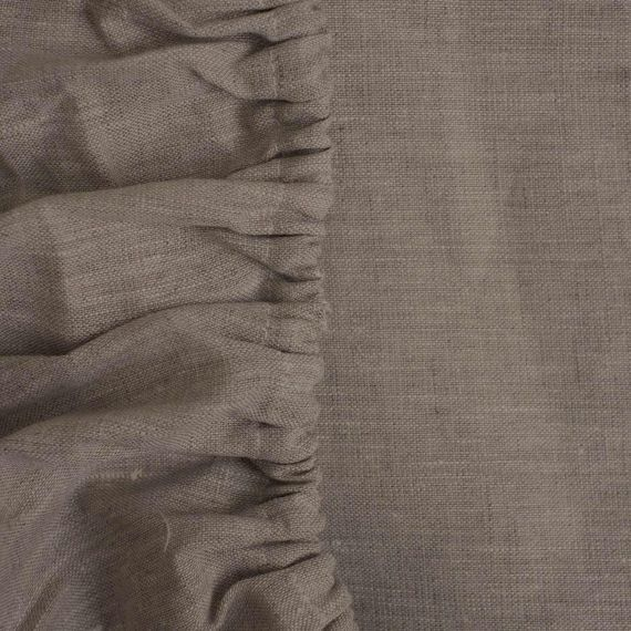 Linen Fitted Sheet Welna Natural