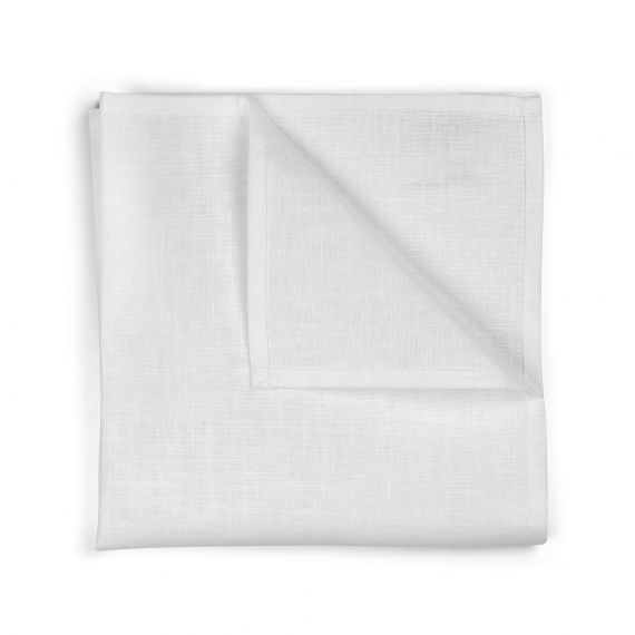 Set of 4 pure linen napkins Welna White & Natural