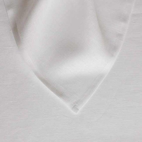 Leinen Bettlake Welna Weiß 145x250 cm