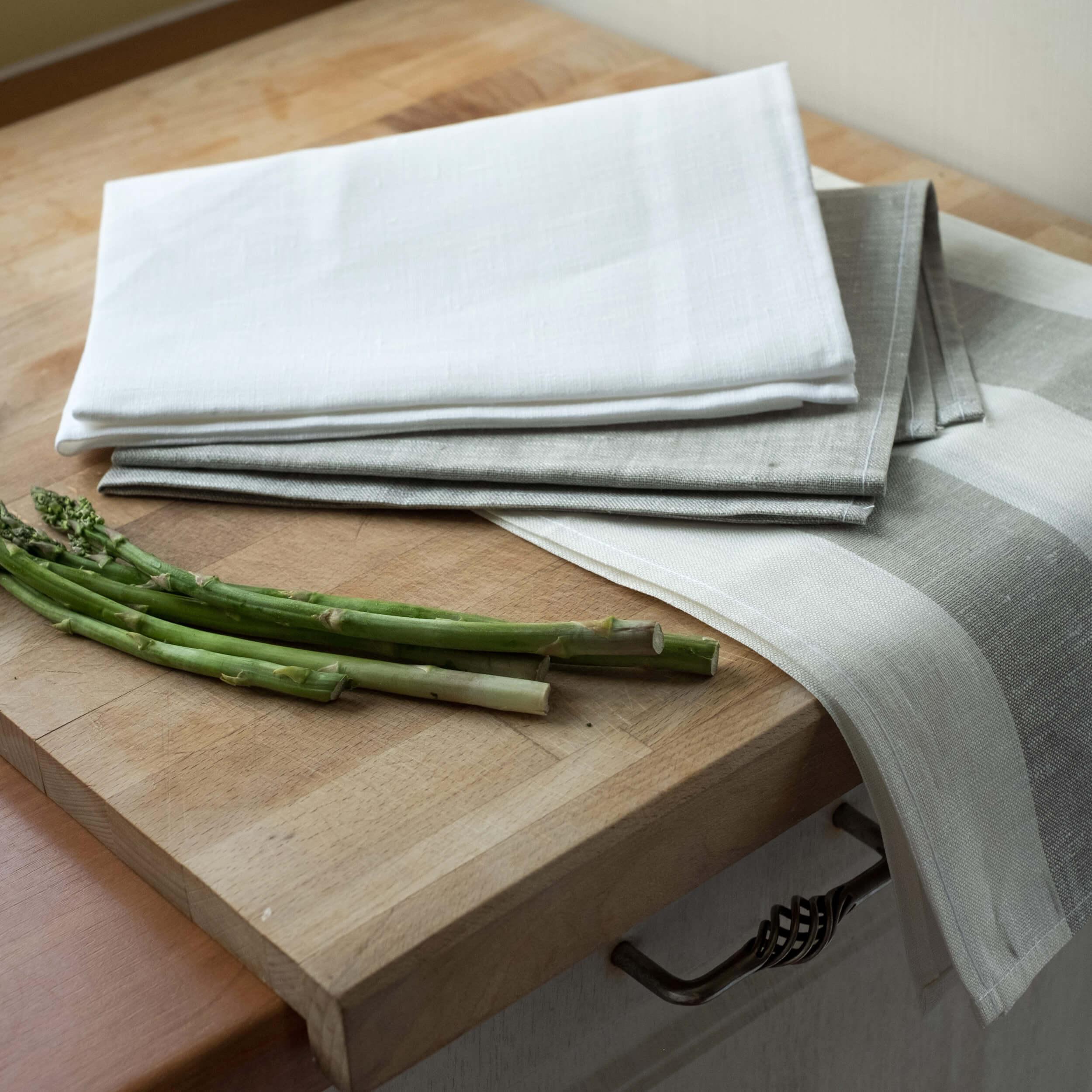 geschirrt cher grubent cher leinen grau wei. Black Bedroom Furniture Sets. Home Design Ideas
