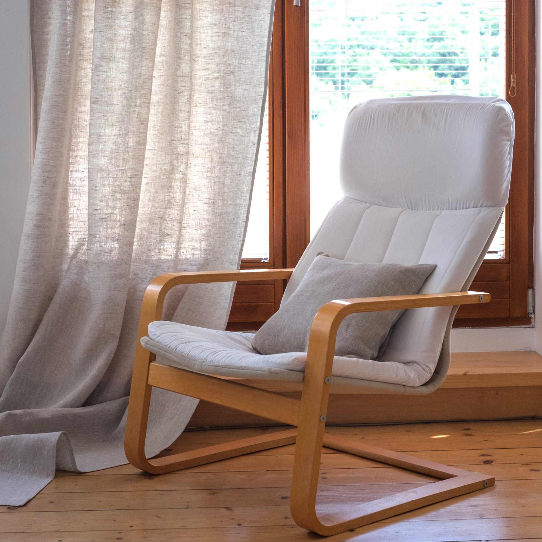 leinen vorh nge lesna hell natur. Black Bedroom Furniture Sets. Home Design Ideas
