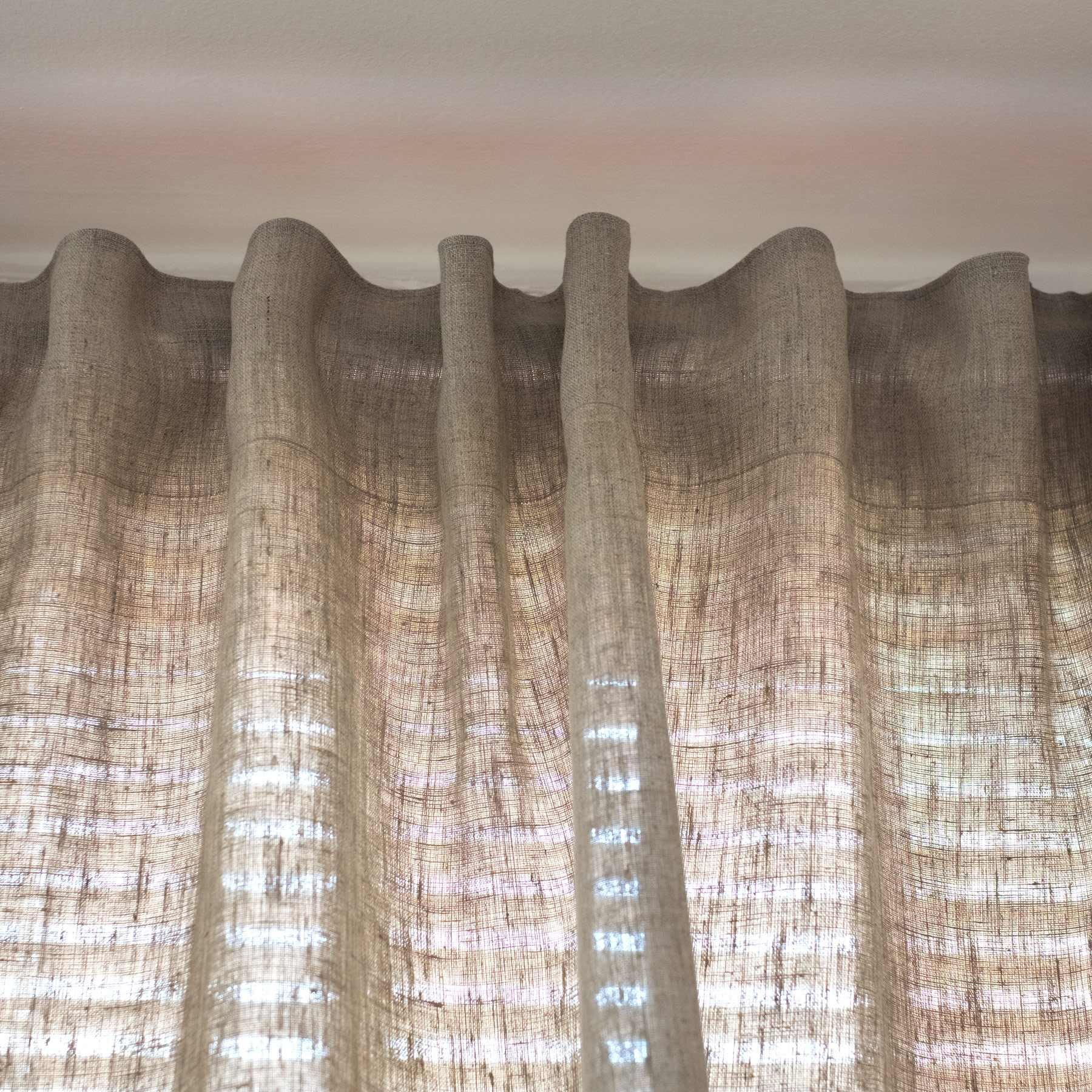 Leinen Vorhang Blickdicht Natur Braun