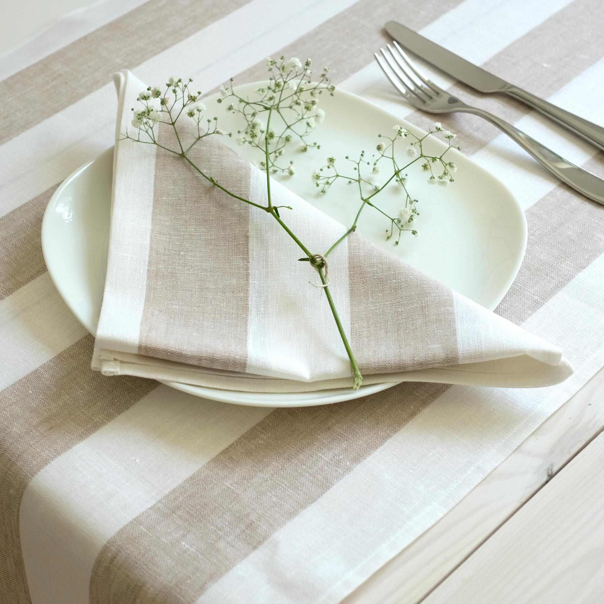 leinen servietten rissa beige. Black Bedroom Furniture Sets. Home Design Ideas