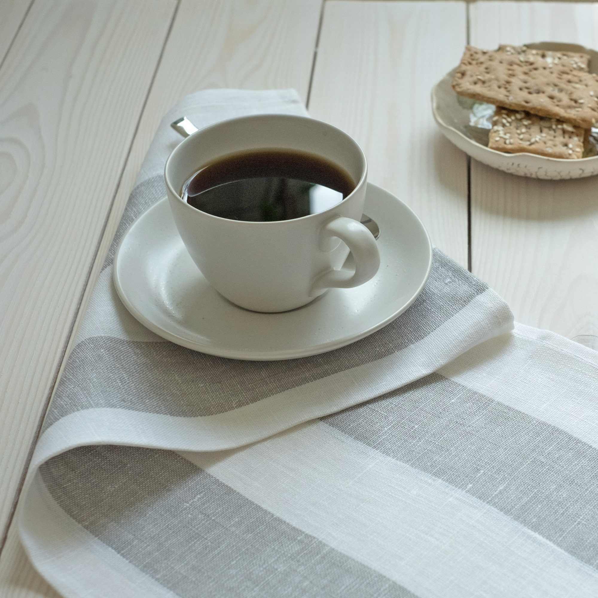 leinen geschirrt cher rissa wei. Black Bedroom Furniture Sets. Home Design Ideas