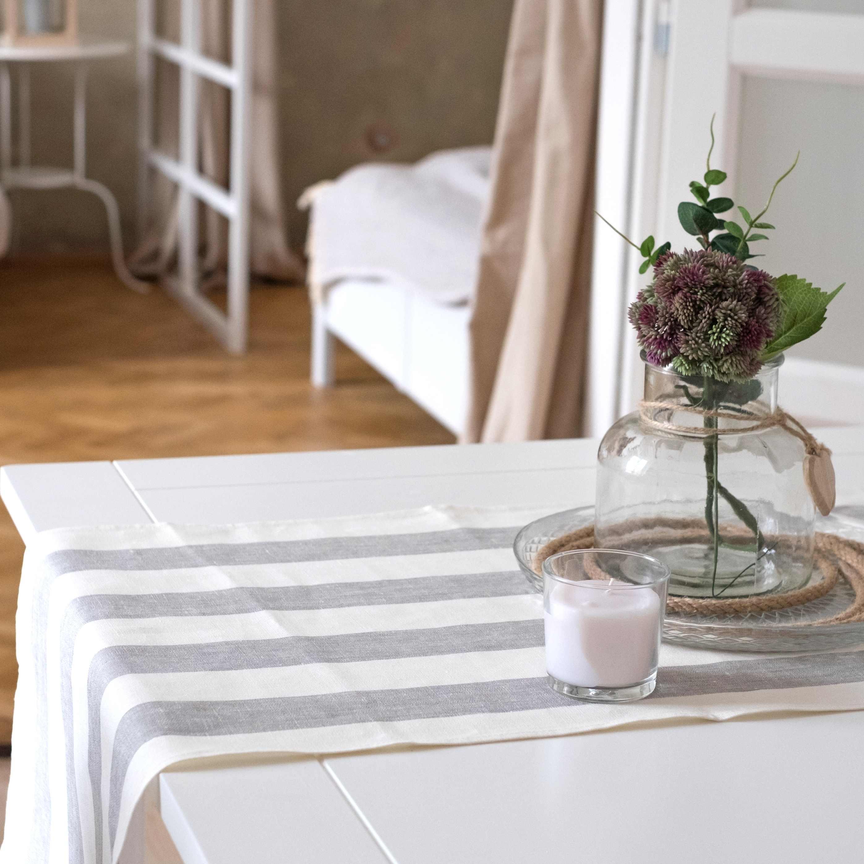 leinen tischl ufer rissa grau. Black Bedroom Furniture Sets. Home Design Ideas