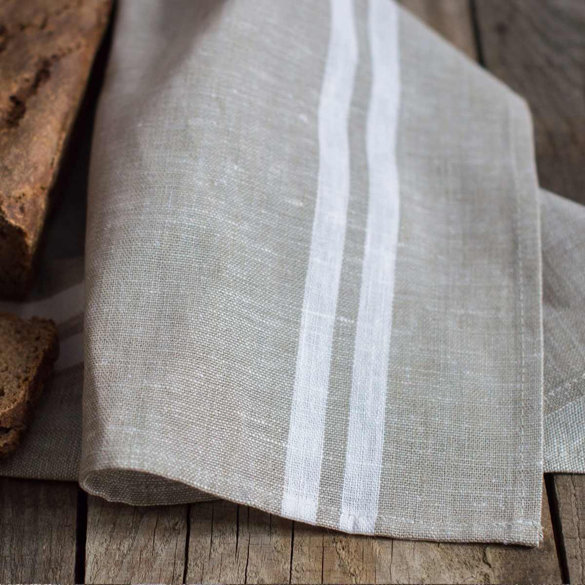 linen tea towels tisa beige grey. Black Bedroom Furniture Sets. Home Design Ideas