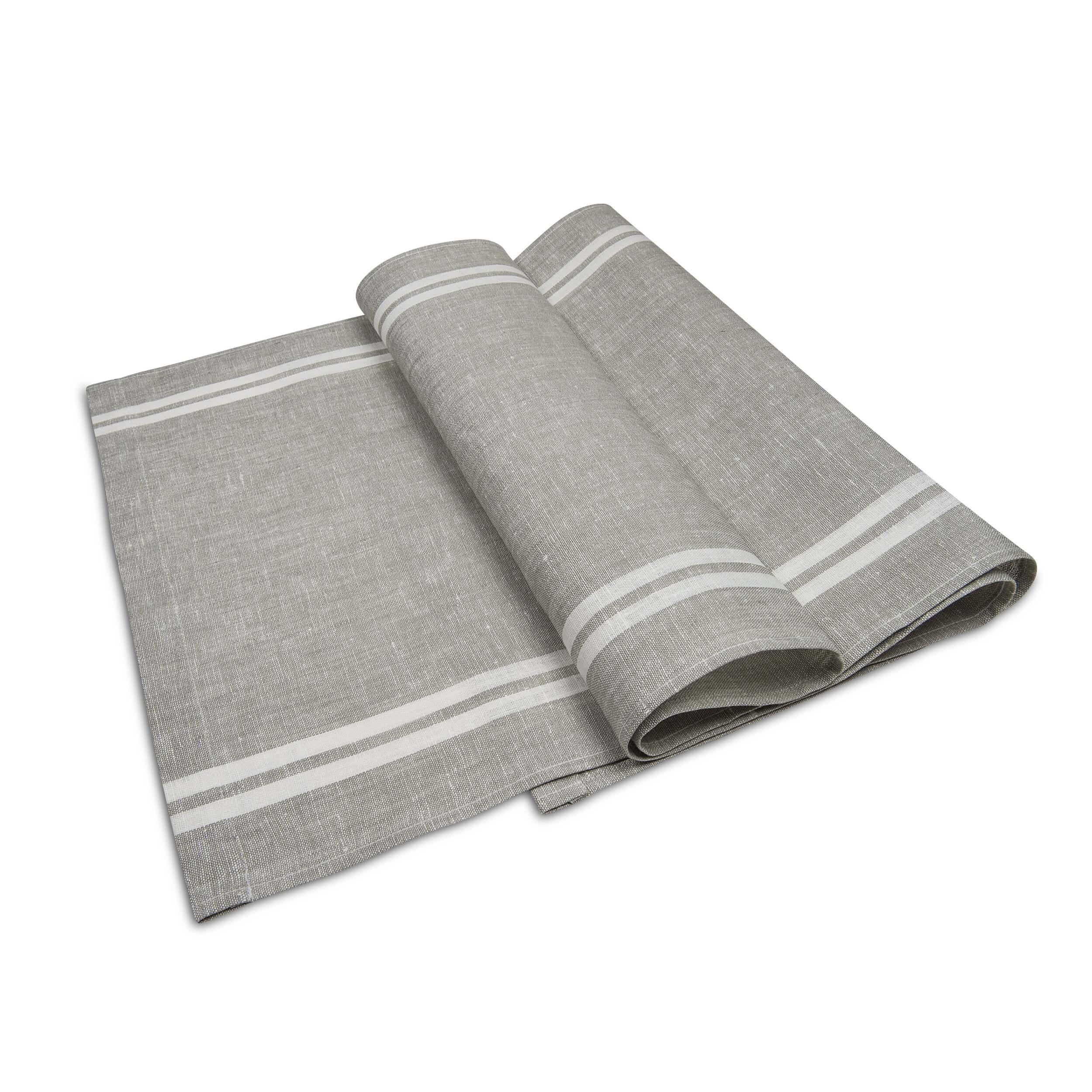 leinen tischl ufer tisa beige grau. Black Bedroom Furniture Sets. Home Design Ideas