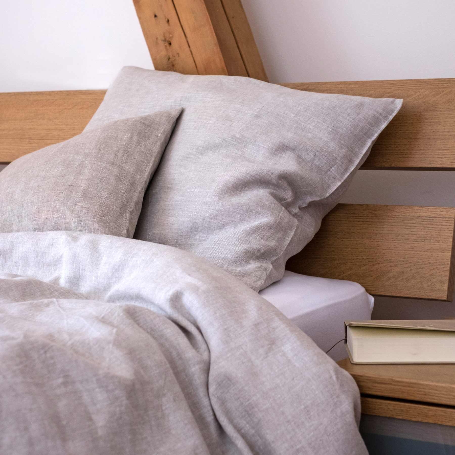 leinen bettbezug welna hell natur. Black Bedroom Furniture Sets. Home Design Ideas
